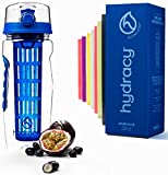 Hydracy Fruit Infuser Water Bottle - 1Litre Sport Bottle with Full Length Infusion