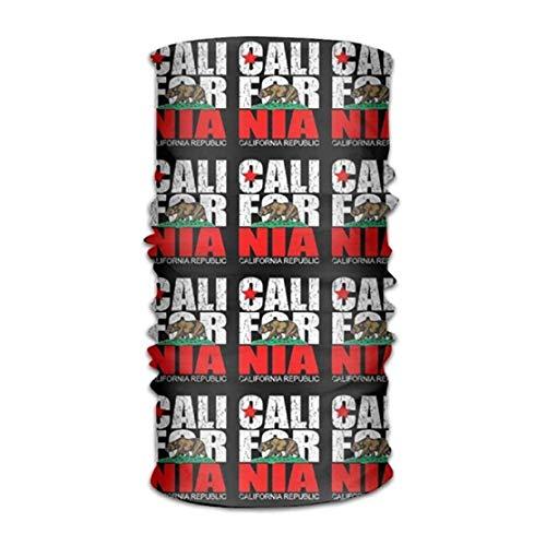 WITHY California Vintage Flag Versatile Outdoors Daily Stylish Headwear Multifunctional Sport Headband Sweatband,Magic Scarf,Head Wrap,Neck Gaiter,Bandana,Helmet Liner, Balaclava,Tube Mask