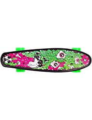 Streetsurfing 500291 Skateboard Mixte Enfant, Multicolore, 55 cm