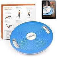 Joyletics® Balanceboard Therapiekreisel + e-Book Balancetraining | Balance Board zur Verbesserung von Kraft, Gleichgewicht und Körper-Koordination | Durchmesser 40 cm in Blau preisvergleich bei fajdalomcsillapitas.eu