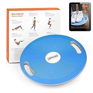Joyletics® Balanceboard Therapiekreisel + e-Book Balancetraining | Balance Board zur Verbesserung von Kraft, Gleichgewicht und Körper-Koordination | Durchmesser 40 cm in Blau
