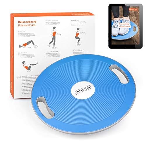 Joyletics® Balanceboard Therapiekreisel | Balance Board zur Verbesserung von Kraft, Gleichgewicht und Körper-Koordination | Durchmesser 40 cm in Blau