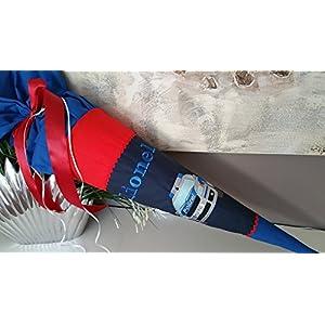 #38 Polizei Schultüte Stoff + Papprohling als Kissen verwendbar