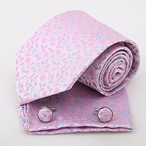 PH1143 Fitness Fashion Pink Paisley Handmade Gift Giving Silk Ties Cufflinks Handkerchiefs Groom Gifts for Wedding By Epoint