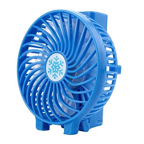 SUCES USB Handventilator Leise Mini Handventilator Batterie Tragbarer Mini Lüfter Elektrischer Faltbar Handheld Fan wiederaufladbar tragbar Kühlung Fan Geschenk für Sommer (Blue)