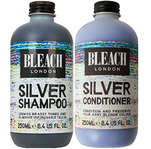 Preisvergleich Produktbild (2Pack) Bleichen London Silber Shampoo X 250ml & Bleichen London Silber Klimaanlage X 250ml