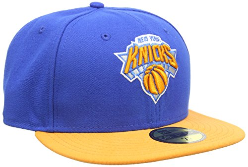 New Era Baseball Cap Mütze NBA Basic New York Knicks 59 Fifty Fitted, Blue/Orange, 7 1/4, 10861621 (Usc Baseball-mütze)