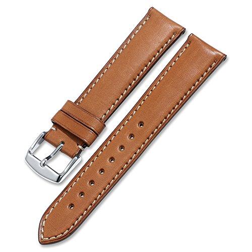 d echtem Kalbsleder Leder iStrap Watch Band Quick Release Lederarmband Ersatz-Watch Armband mit Edelstahl Metall Schließe 18 mm 19 mm 20 mm 21 mm 22 mm ()