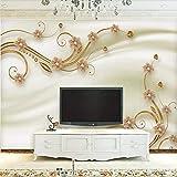 Kuamai Papel De Parede Benutzerdefinierte Große Foto Wandbild 3D Moderne Einfache Gold Schmuck Diamant 3D Tv Wand Hintergrundbild Wandbild-400X280Cm