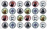 24 Muffin & Cupcake Aufleger Fondant Star Wars C4