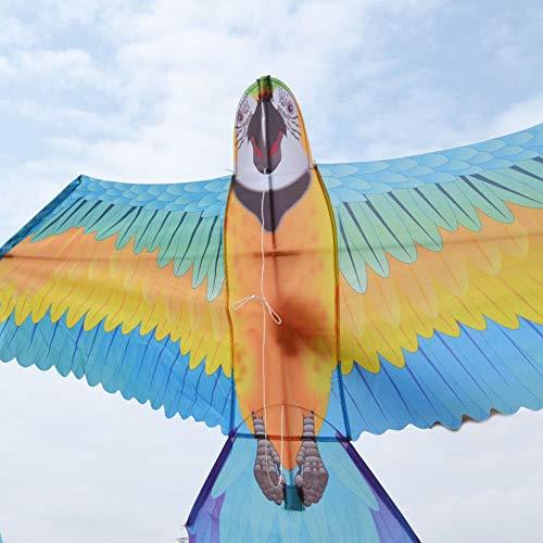 YPKHHH Big Parrot Kite Lenkdrachen für Vögel Stereo, leicht zu fliegen im Freien, lustiges Sportspielzeug für Kinder und Erwachsene