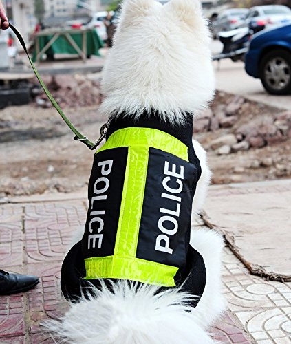 Hund, Polizei-weste (CC * CD Polizei Hund Weste Haustier atmungsaktiv Reflection Coat (XL))