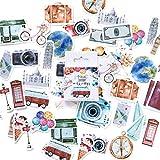 CFPacrobaticS 45Pcs/box adesivi decorativi fai da te viaggio tema diario scrapbook scuola cancelleria