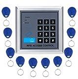 KKmoon Tür Sicherheit Tor Eintrag Zutrittskontrollsystem + 10 Schlüsselanhänger RFID Nähe Türeinstieg Access Control System