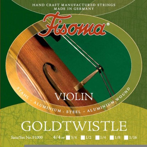 FISOMA Goldtwistle Saiten für Violine 4/4 Satz -- die robuste Schülersaite, stimmstabil mit...