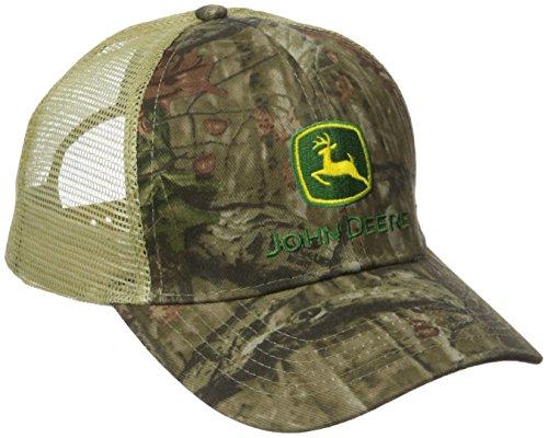 John Deere Herren Cap Mossy Oak Mesh Back Cap - grau - Einheitsgröße Twill Mesh Back Cap