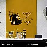 Vinyl Wandtattoo der frühe Vogel braucht viel Kaffee Zitat Coffee Bar Bohnen Wandaufkleber Wandsticker Wanddekoration Fototapete Dekoration für Schlafzimmer Wohnzimmer Büro Cafe Bar Restaurant A506