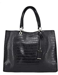 David Jones - Grand sac à main cabas shopping femme - Grand format - Imitation croco - Fourre tout - Sac de cours - Sac épaule - Sac Tote Shopper