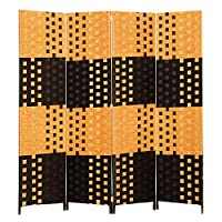 Room Divider, Brown, yellow