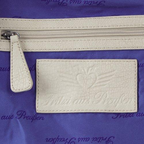Fritzi aus Preussen Stella, Borsa shopper donna Bianco (Weiß (White-Be 55))