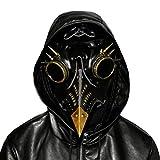 KERVINFENDRIYUN YY4 Remache de la Vendimia Nariz Larga Máscara de pájaro Pico Medieval Steampunk Fiesta de Halloween Mascarada Disfraz de Disfraces 3Colores Disponibles