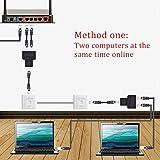 HUACAM HCM72 RJ45 CAT6 LAN Ethernet Port Splitter Adapter 1 zu 2 Dual Buchse Port Kupplung Weiblich zu Weiblich, 2 pack und schwarz Vergleich