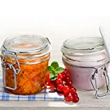 Vase Glass Preserving Terrine Jar 125ml Also for Serving of Bormioli Rocco Fido Airtight Model Pack of 6Pieces