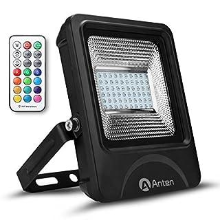 Anten 30W RGB IP66 Wasserdicht LED Fluter Außenstrahler mit 4 Modi & 16 Farben, AC85-277V mit CE & TÜV Zertifikat, Ideale für Garten, Sportplatz, Partys, Halloween, Weihnachten, etc.