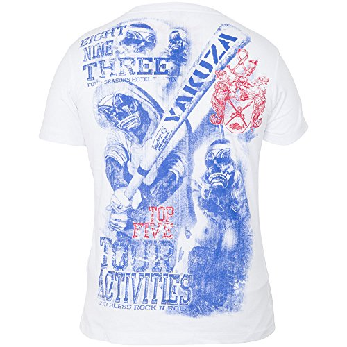 Yakuza T-Shirt TSB-310 Weiß Weiß