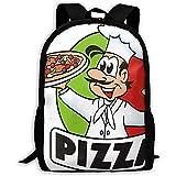 Schulrucksack Pizza Cartoon Rucksack Umhängetasche Daypack Reißverschluss Reise Schule Bookbag Gym...