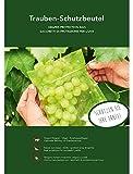 25 bolsas de protección para uvas, tamaño 30 x 20 cm, color verde, con una cinta para arreglarlo, mantener alejadas moscas, avispas y pájaros