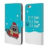 Head Case Designs Let It Snow Wilbur Weinachten Brieftasche Handyhülle aus Leder für Apple iPhone 6 Plus / 6s Plus