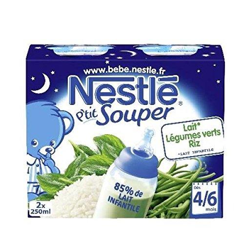 Nestlé p'tit souper lait légumes verts riz 2x250ml dès 4/6 mois - ( Prix Unitaire ) - Envoi Rapide Et Soignée