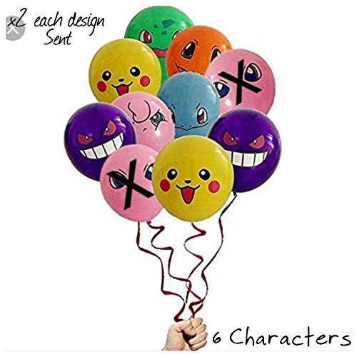 (Pokemon Charakter Party Ballons Pack of 12-6 Styles)