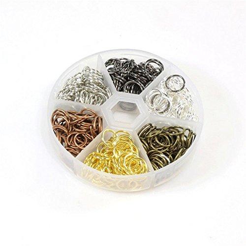 Présentoirs pour Bijoux Accessoires création boîte de 390 Anneaux de jonction 10x1mm en Laiton Multicolore