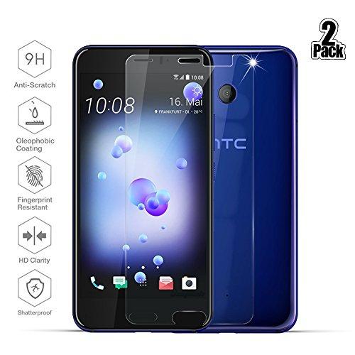 [2-Pack] Pellicola protettiva HTC U11, Beyeah [9H Durezza] [Alta Definizione] [garanzia a vita] Premium Vetro Temperato Pellicola per HTC U11