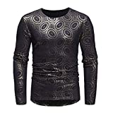 MEIbax Herren Hemden Herbst Winter Luxus afrikanischen Print Langarm Dashiki Shirt Top Oberteile