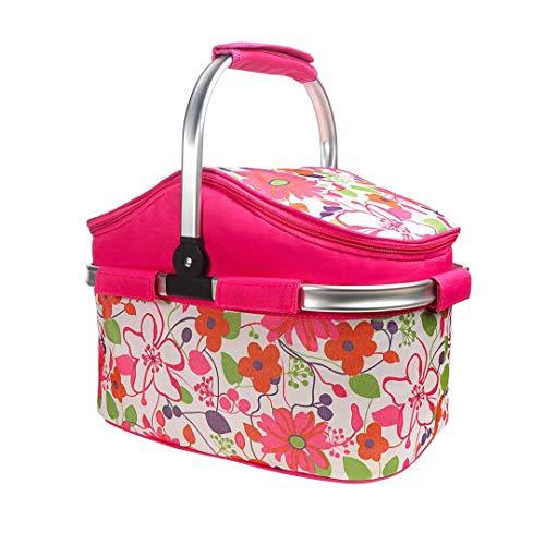 Lysport 20L Zusammenklappbare Kühltasche Korb für Arbeitung,Party, BBQs und Outdoor Picknick(Rose)