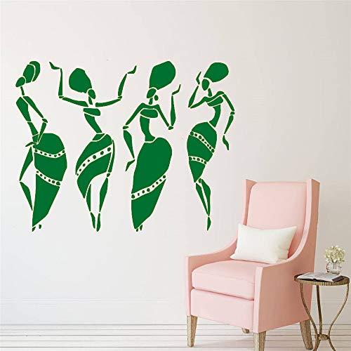Wandtattoo Schönheitssalon Afrikanische Frauen Gesicht Stil Muster Vinyl Wandaufkleber Fenster Mode Dekoration Maßgeschneiderte 57 * 45 cm