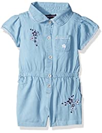 Limited Too Baby Girls' Lace and Denim Romper