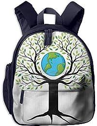 Teens Boys&GirlS Bookbag with Pocket Tree of Life Eco Friendly Earth Tree Saving The Planet Life