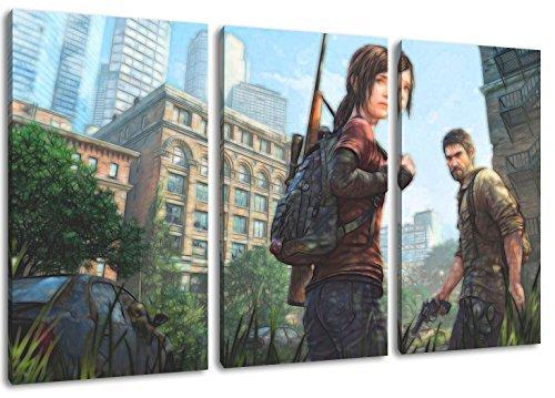 The Last of Us Motiv, 3-teilig auf Leinwand (Gesamtformat: 120x80 cm), Hochwertiger Kunstdruck als Wandbild. Billiger als ein Ölbild! ACHTUNG KEIN Poster oder Plakat!
