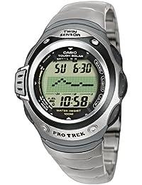 CASIO Sport-Pro Trek PRG-100T-7VER - Reloj digital de cuarzo con correa de titanio unisex, color plateado