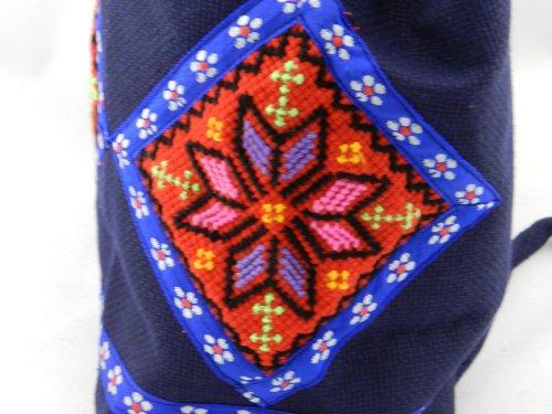 Vento nazionale donne sacchetti fiore ricamo Borse Tracolla zaino di viaggio personalizzato retrò borse casual, verde chiaro Violet
