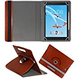 Fastway Rotating 360° Leather Flip Case For Lenovo Tab 4 8 Plus 16 GB 8 Inch With Wi-Fi+4G Tablet Brown