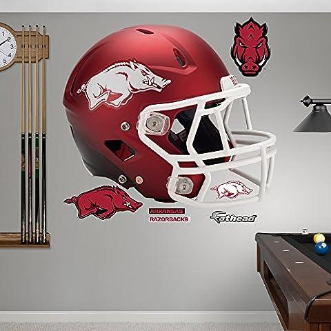 NCAA Arkansas Razorbacks Casco Rosso fathead Adesivo