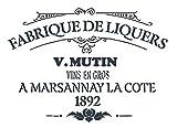 A5 Schablone Shabby Chic Vintage, Frankreich, Möbel, Stoff, Glas, wiederverwendbar (84) Mylar