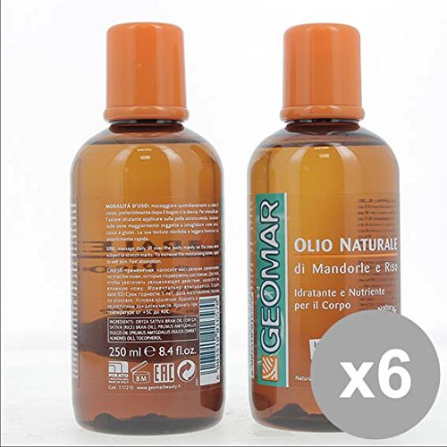 Set 6 GEOMAR Olio Idratante Corpo Mandorle Riso Prodotti per il corpo