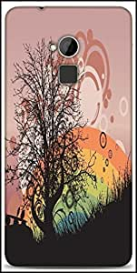 Snoogg Abstract Illustration Designer Protective Back Case Cover For HTC One-Max