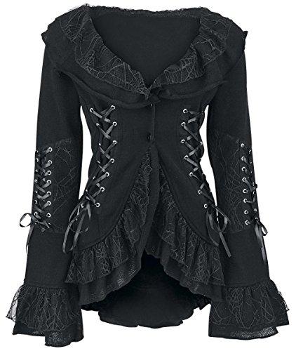 Poizen Industries Cord Lace Cardigan donna nero M-L